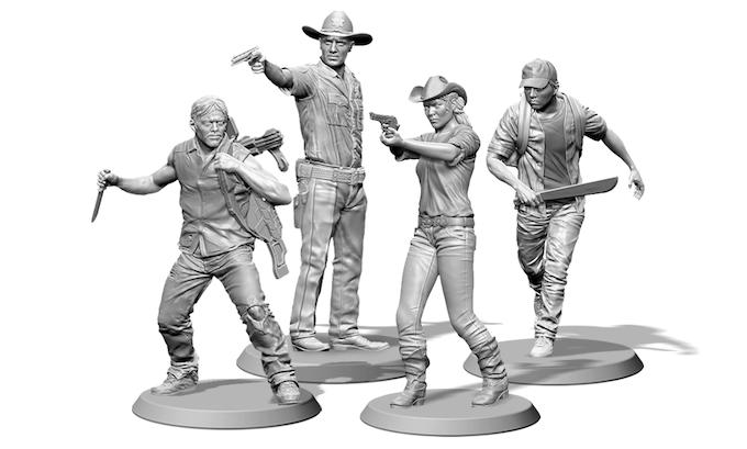 Daryl, Rick, Andrea, and Glenn