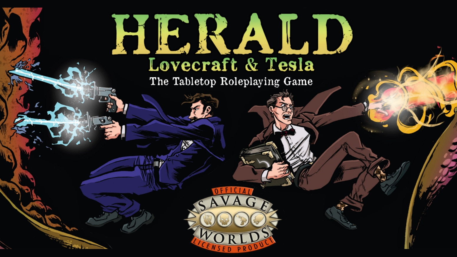 Science and Fiction in the Savage Worlds of the Roaring 20s. A host of historical characters face the mysteries of the Cthulhu Mythos!