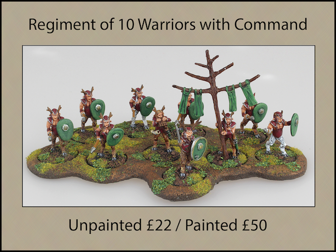Regiment of 10 Faun Warriors (8 unique figures)