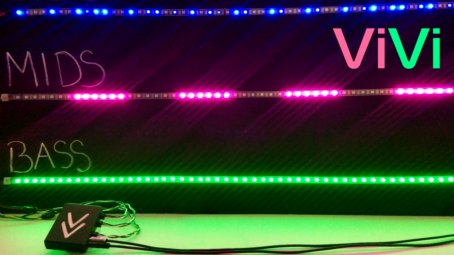The Smartest Music Reactive Led Controller Vivi By Matt Kachur Tri Color Circuit Creates Synchronized Light Shows In Real Time Small Enough To Wear