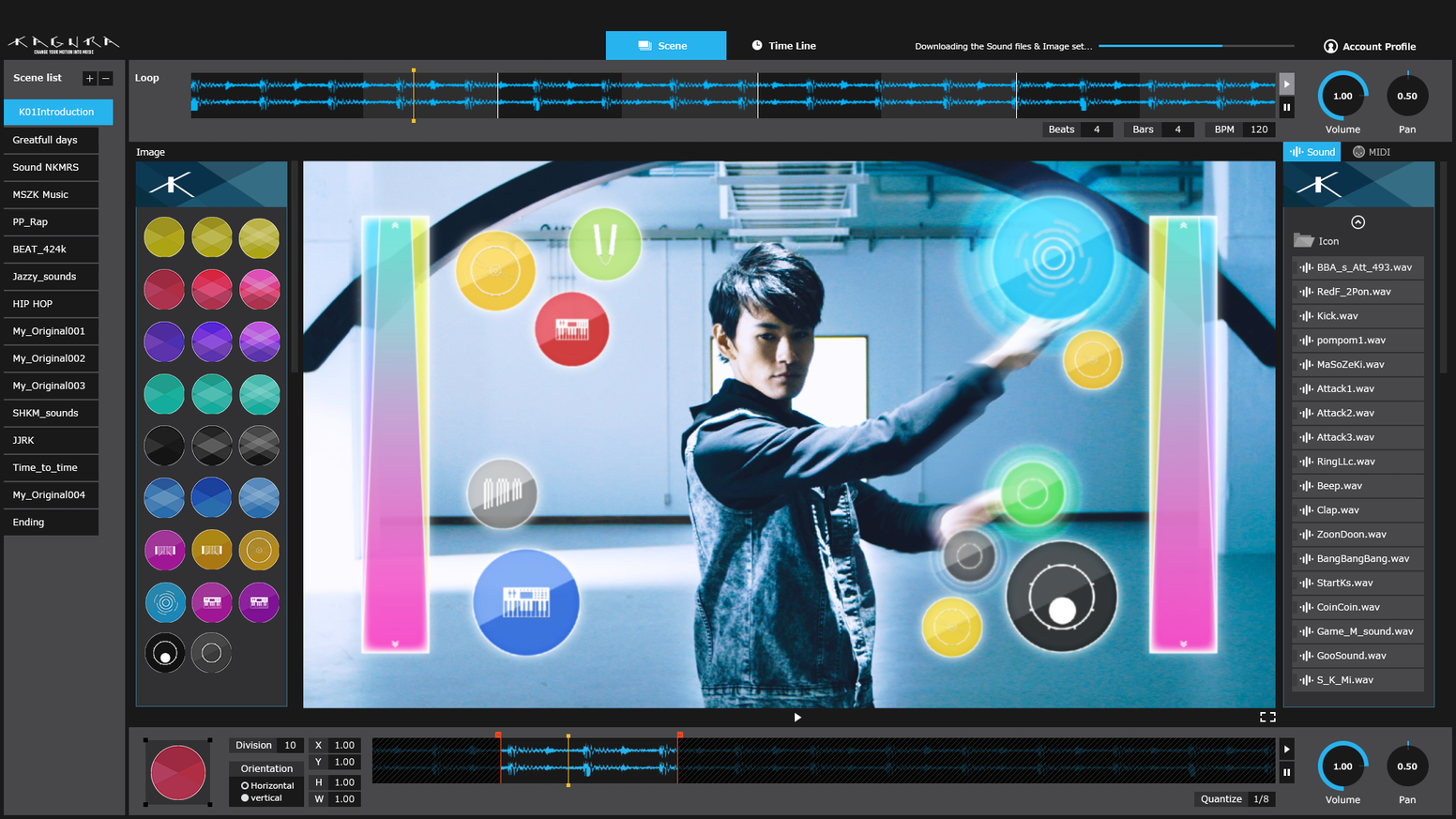 Revolutionary digital instrument that lets you make music simply by gesturing. KAGURA is motion made music.