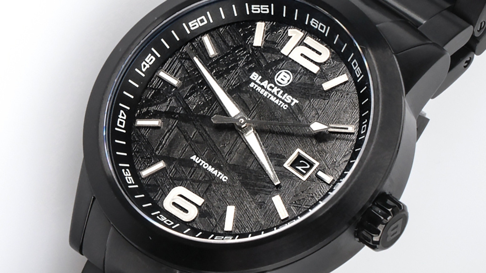 Racing inspired automatic watches featuring exotic dial materials including Blue Carbon, Natural Meteorite, Carbon Fiber and more!