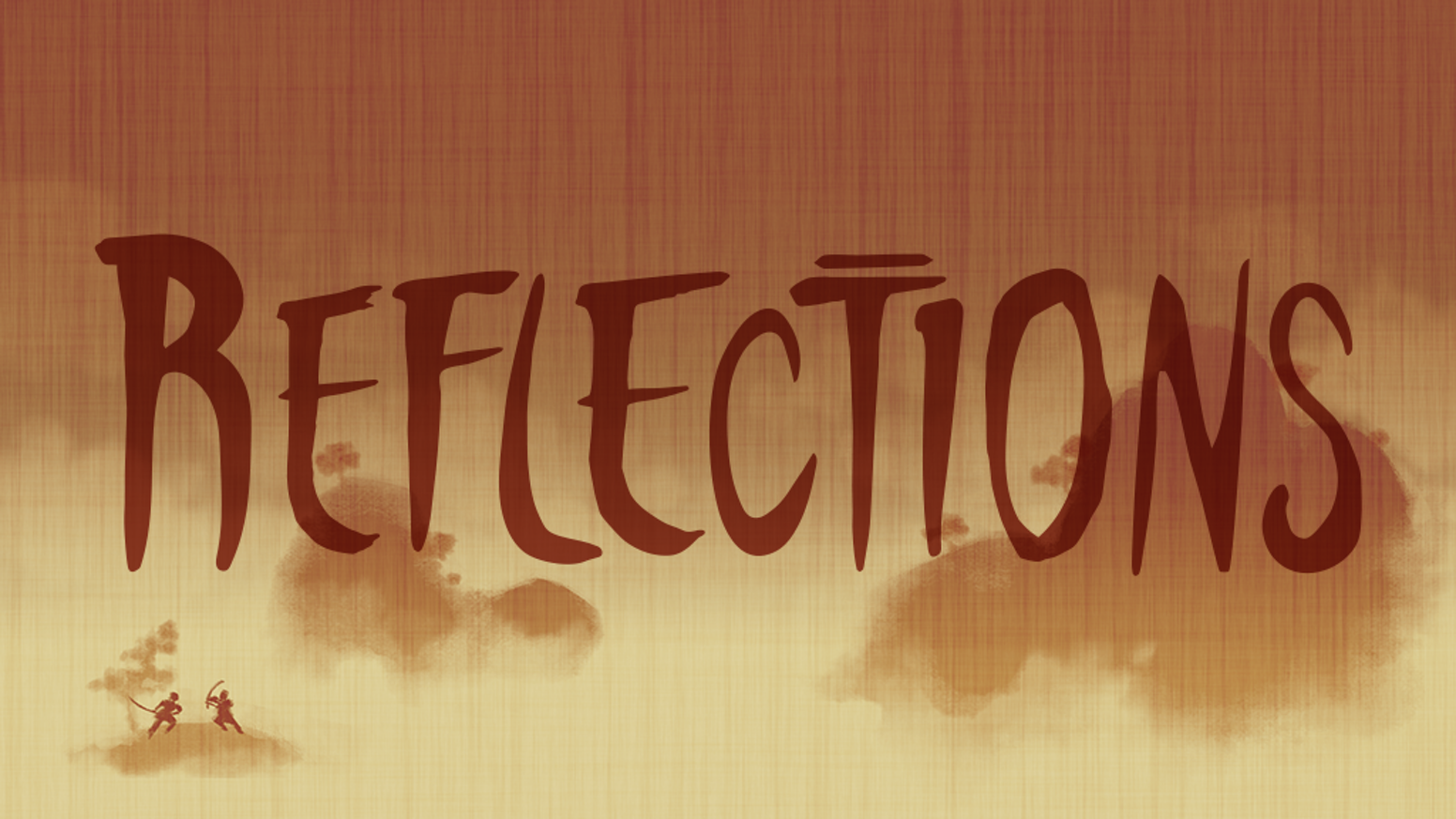 Reflections is a roleplaying game telling the story of how two samurai come to their final duel.