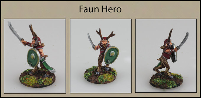 Faun Hero with Sword and Shield