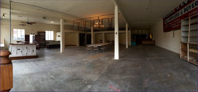 The spacious interior of our location!