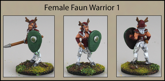 Female Faun Warrior 1
