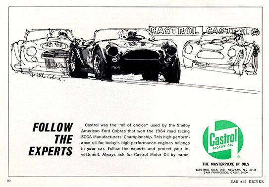 Castrol Motor Oil Advertisement by Ken Dallison