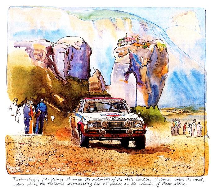 Illustration for Road & Track Magazine by Ken Dallison