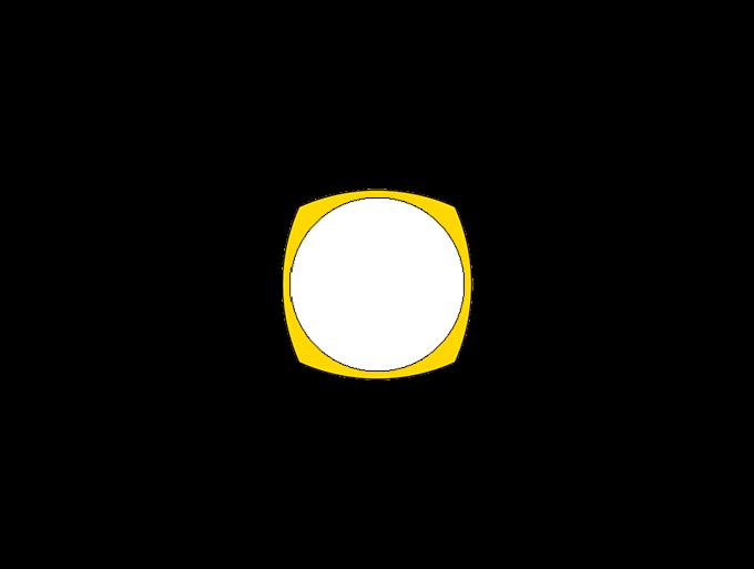 Geometry definition of the bezel