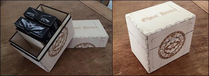 Commission a custom Ghost Hunter quadruple deck box.