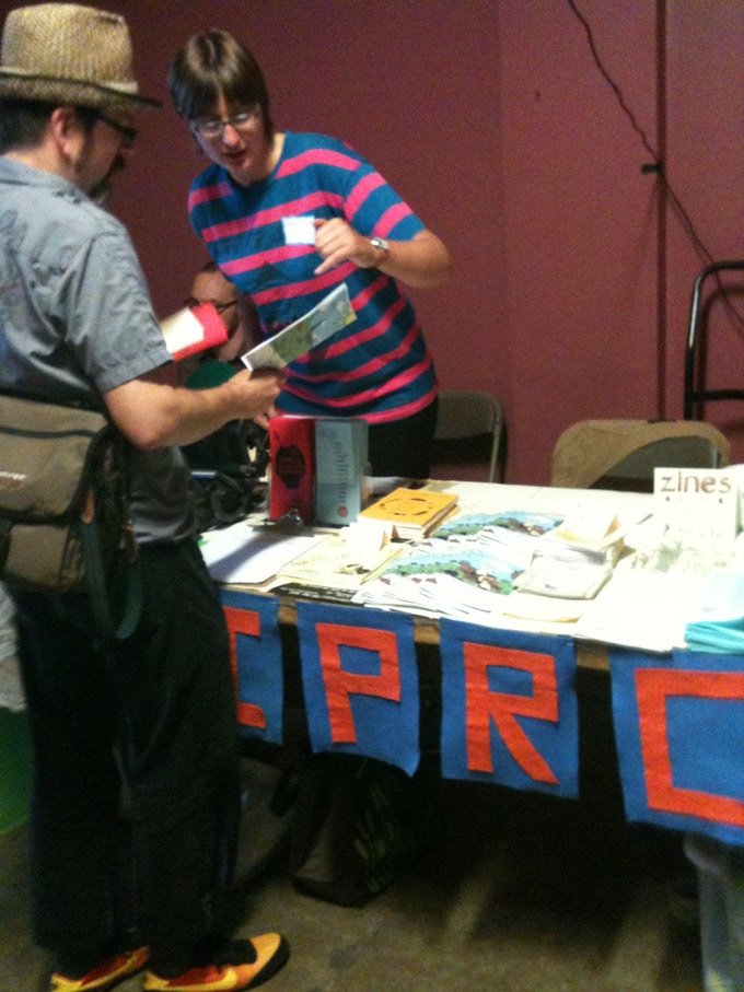 Tabling at Portland Zine Symposium