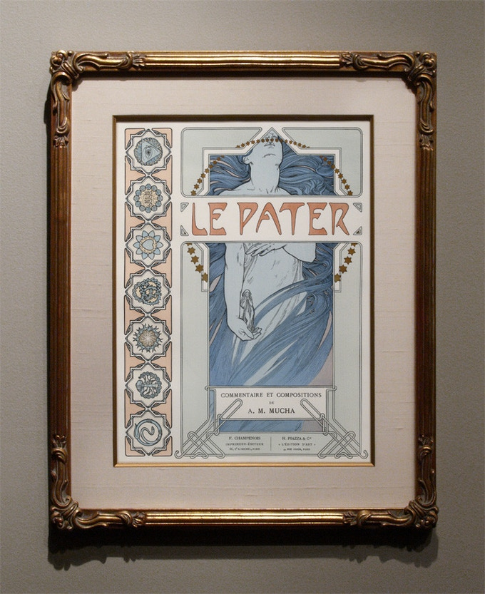 A plate from Le Pater on display at Century Guild in Los Angeles