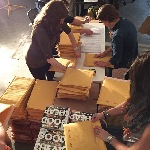 The creators of Good and Cheap - Eat Well at $4/day organized a shipping party with 30 generous volunteers