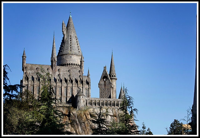 Hogwarts Castle inside Universal Studios Hollywood
