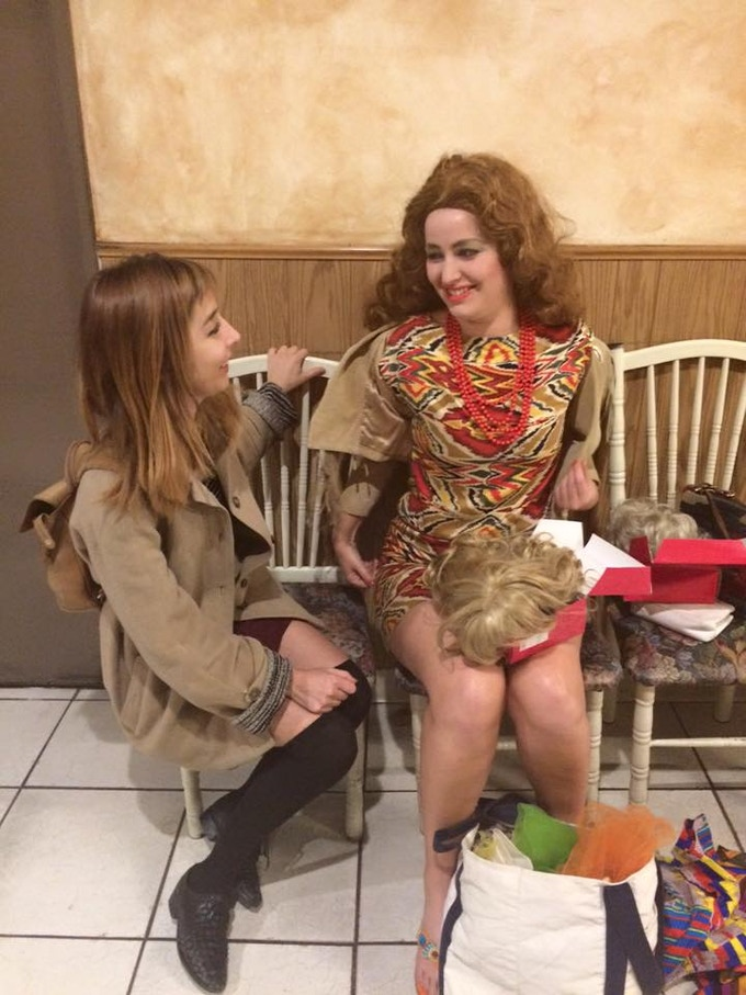 Wendy McColm (Director/ Actor) BTS with Lenae Day in one of her many looks
