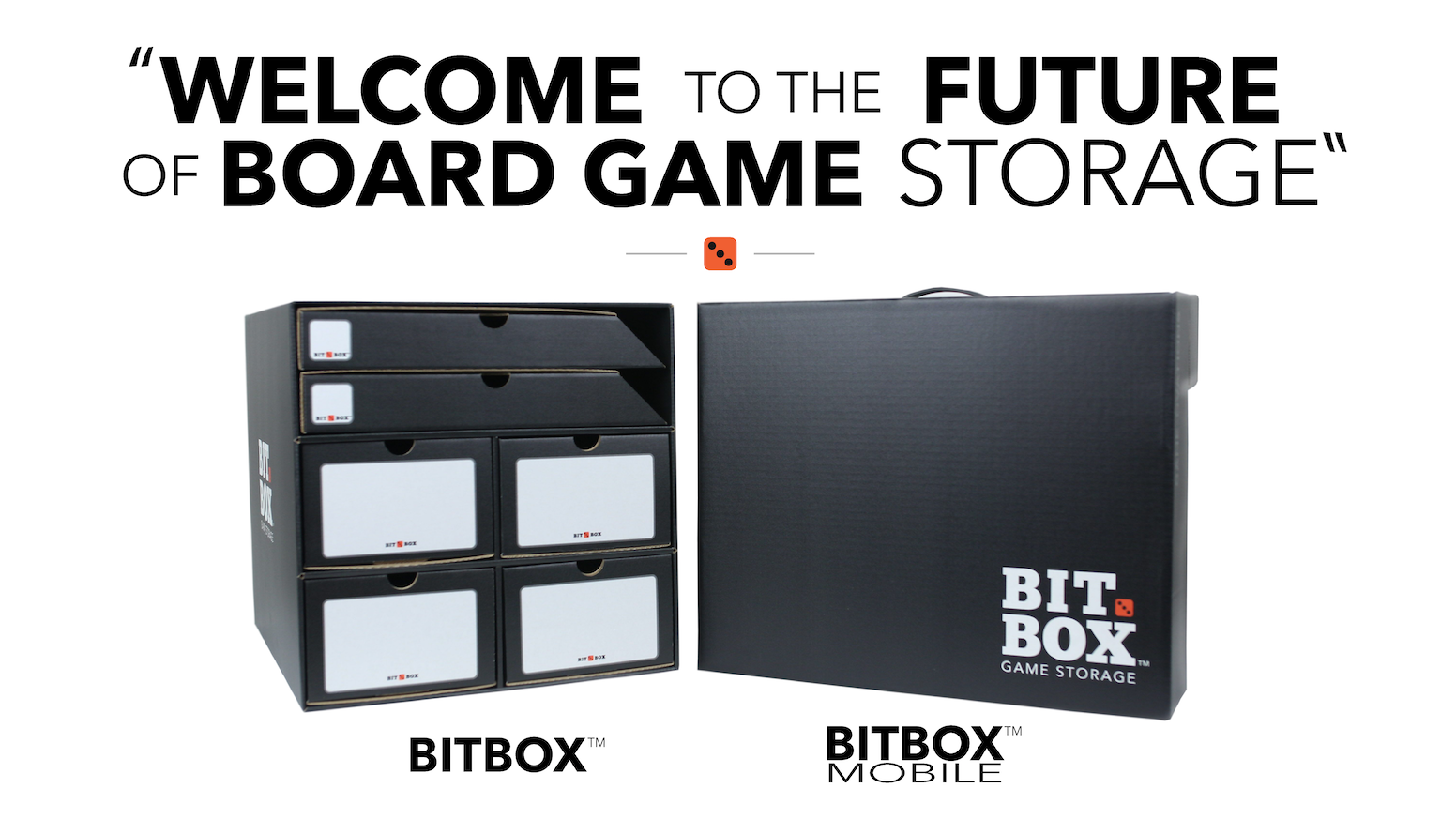 The future of board game storage. A space saving, easy traveling, super affordable, board game storage solution.