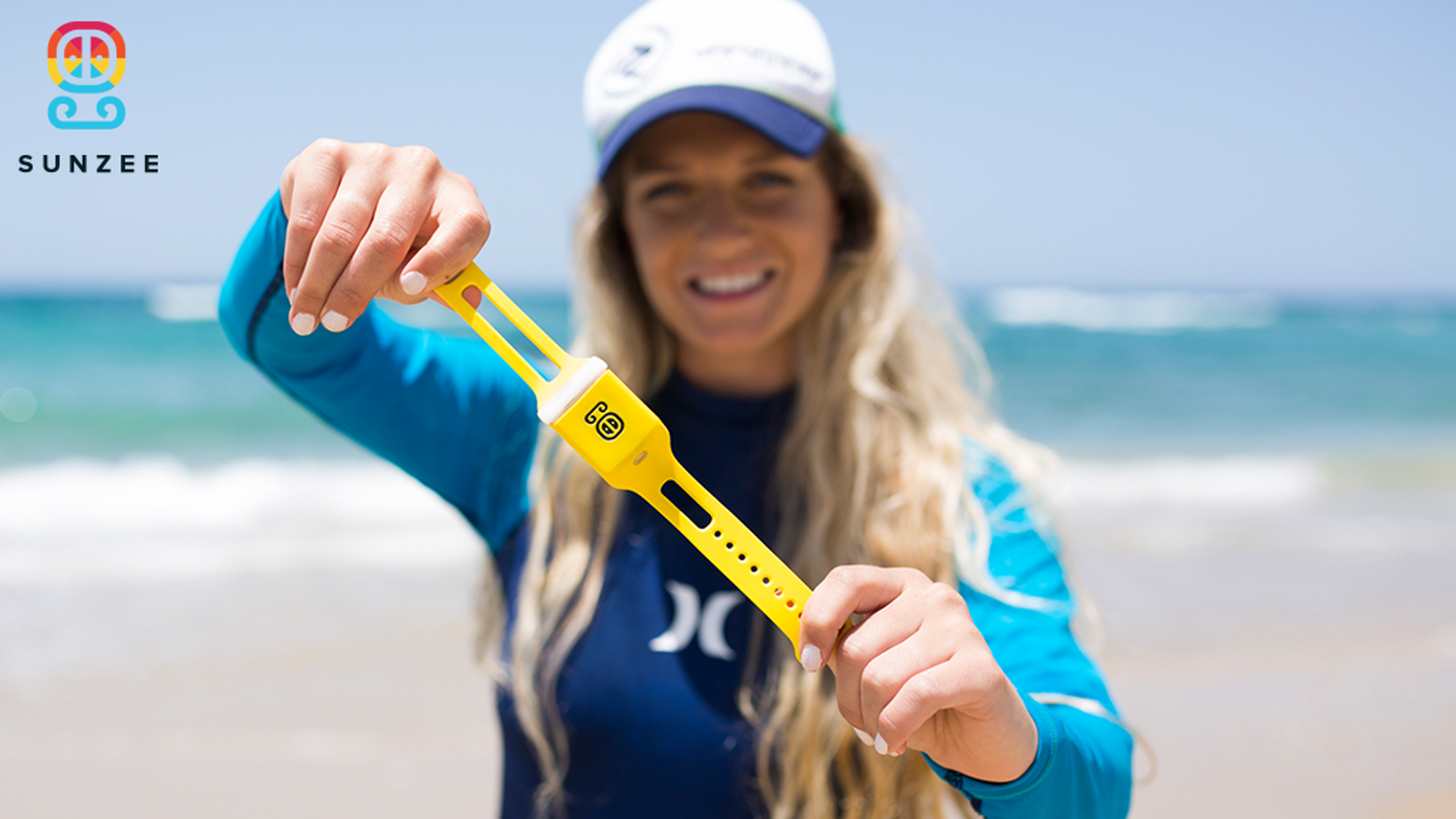 SunZee takes sunscreen out of the bag and onto your wrist for on-the-go use, keeping you protected for hours at a time.