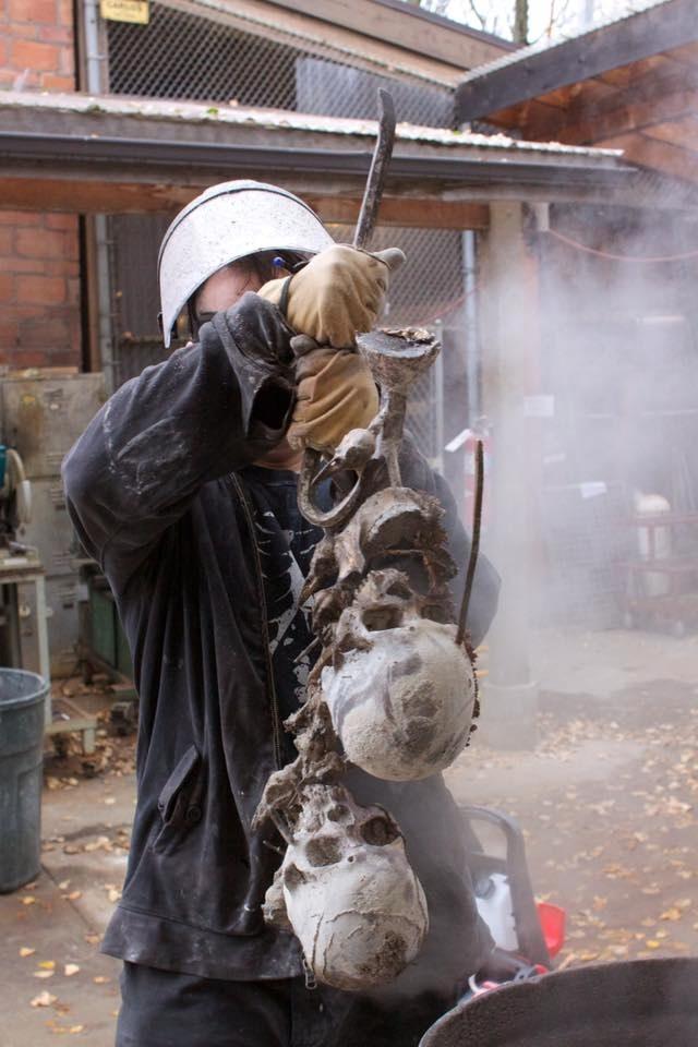 Jason Soles bronze casting. June, 2014.
