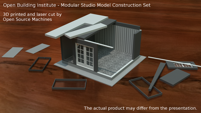 Studio model that teaches you how to assemble building modules just like in real life.