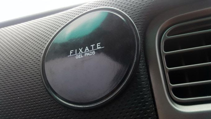 Fixate Gel Pads are great for use in the car, stick you phone or GPS for easy viewing and charging!