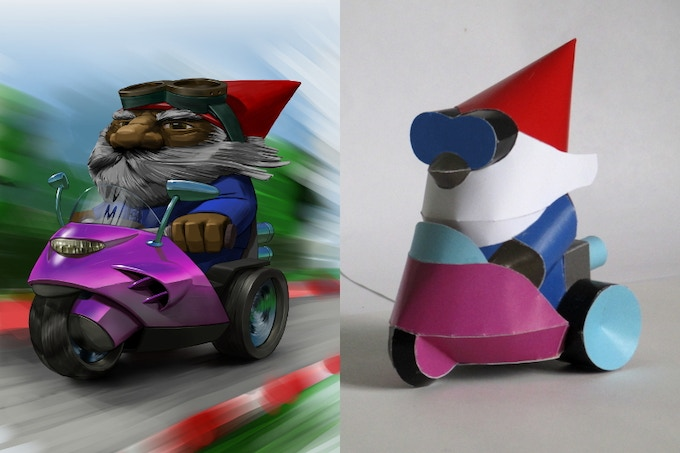 Here´s the trike racer ...