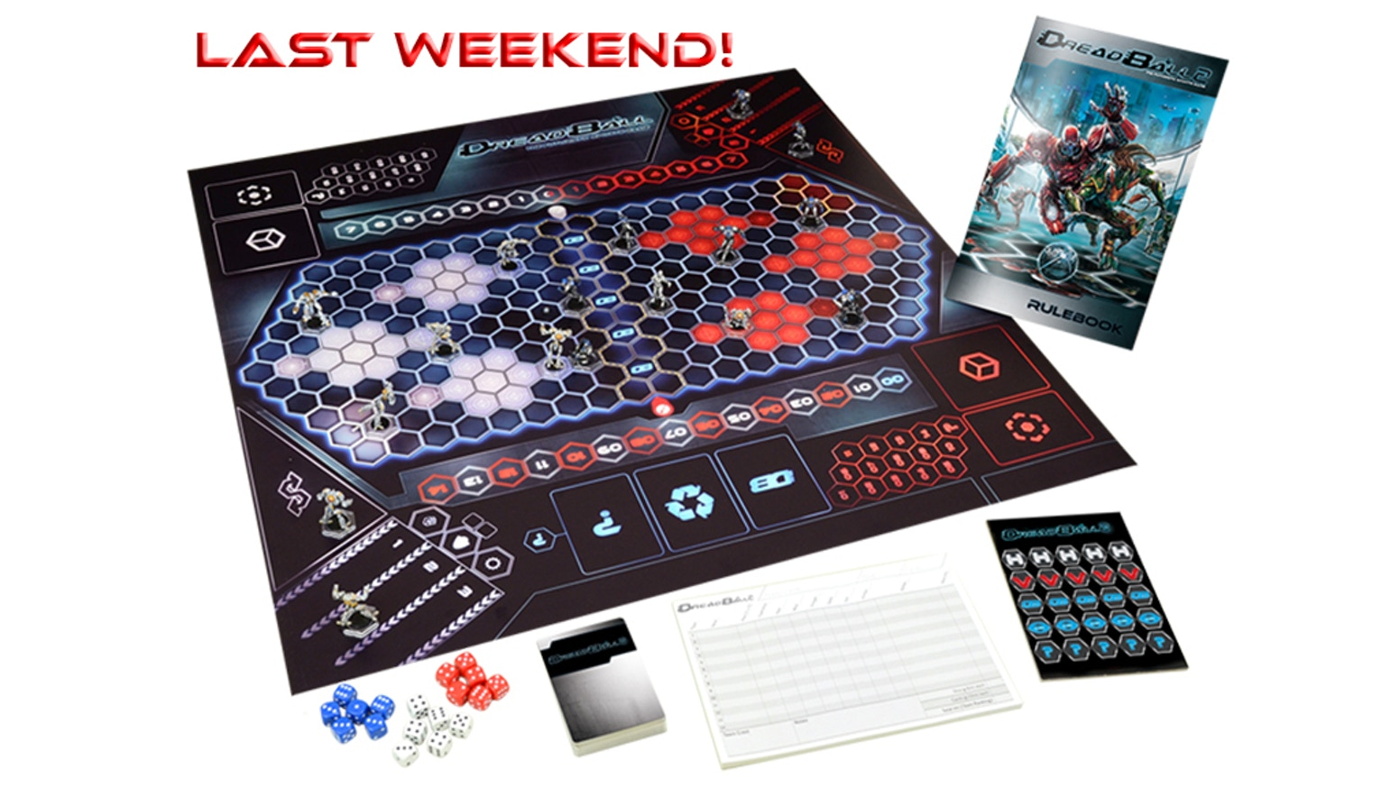 Lead your team to victory on the bloodstained pitches of the greatest sport ever played in this fast paced board game from Mantic!