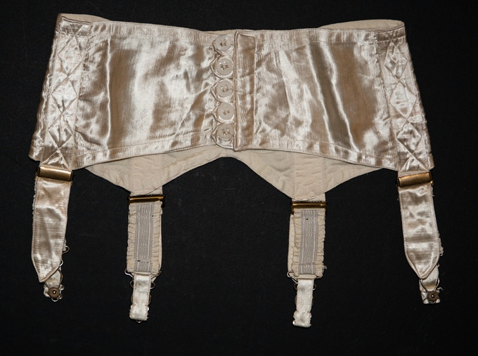 Keeping the museum online instead of at a physical location keeps it accessible regardless of your physical location. 1940s suspender belt, part of The Underpinnings Museum collection.