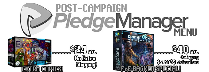 Forget to order that extra copy for your friend? Or did you miss the Darkrock Ventures Kickstarter? Don't worry! Get the KS editions of either game in the PledgeManager after this campaign!