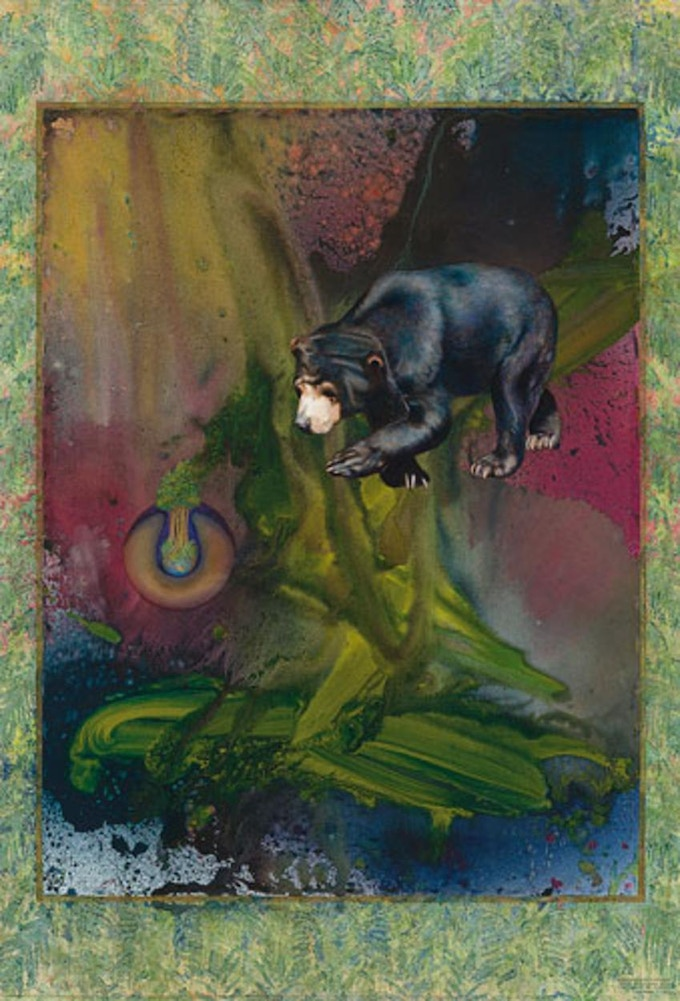 """""""YOU MUST THINK OF YOURSELF AS ONE OF THE GREAT SPIRIT'S          CREATURES OF THE WILDERNESS""""             SUN BEAR by Calley O'Neill and Rama the Elephant"""
