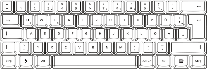 German layout - key shape final - font is not final