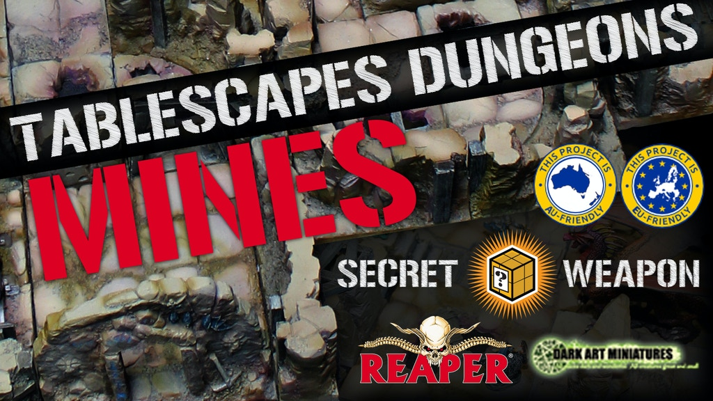 Tablescapes Dungeons - Modular RPG Dungeons by Secret Weapon project video thumbnail
