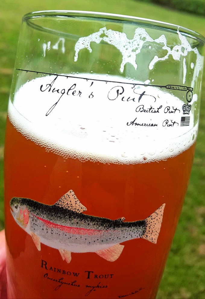 The Rainbow Trout Angler's Pint
