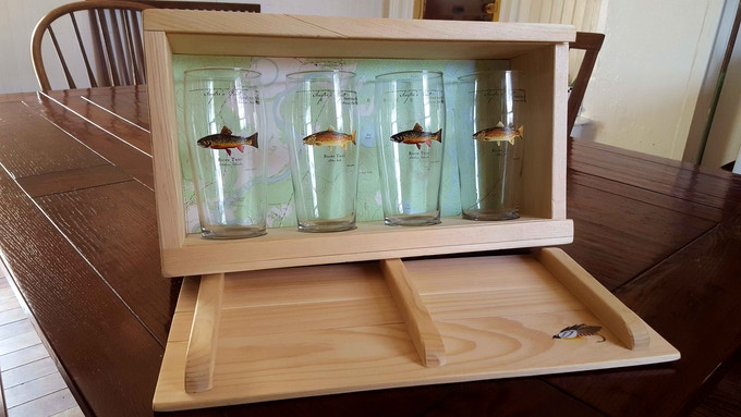 Four Angler's Pints in a Customized Presentation Box