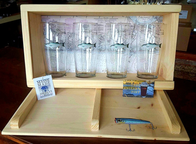 Striped Bass Angler's Pint Presentation Box Featuring Long Island Striper Fishing Grounds