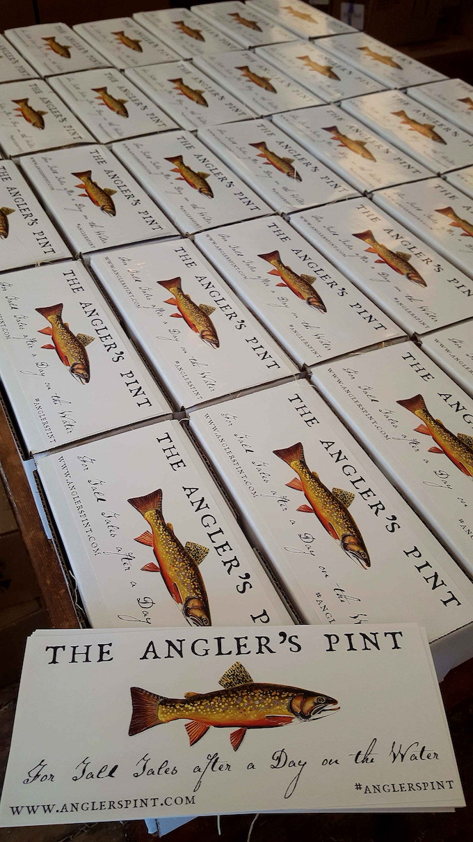 Each Angler's Pint Arrives in Its Own Box Suitable for Giving as a Gift