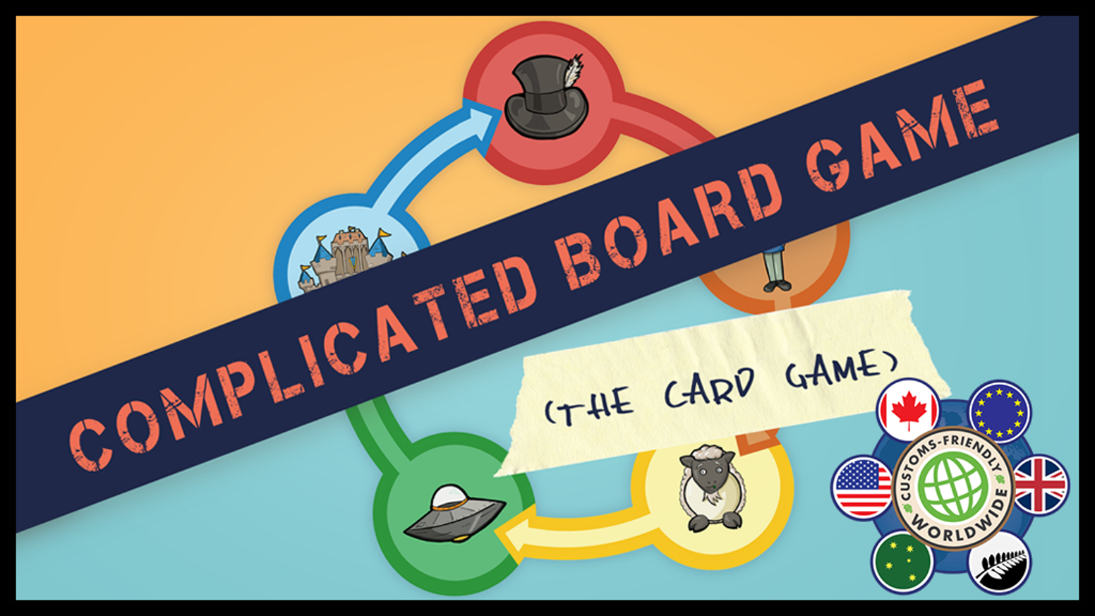 A simple card game about playing a complicated board game.