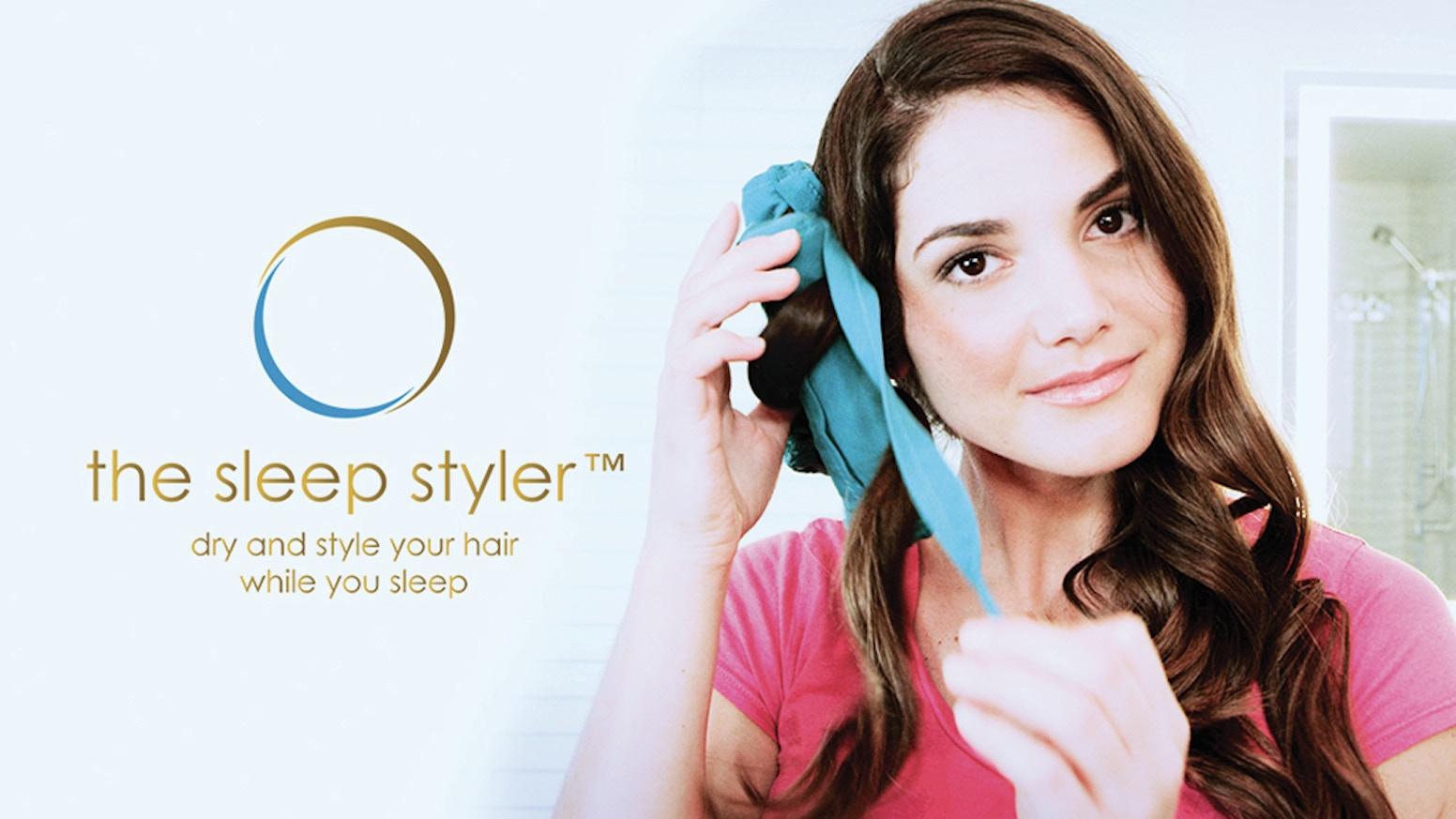 Sleep Styler Worlds First Heatless Straightener Curler By The