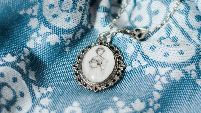 Elizabeth Bennet Necklace from Authored Adornments