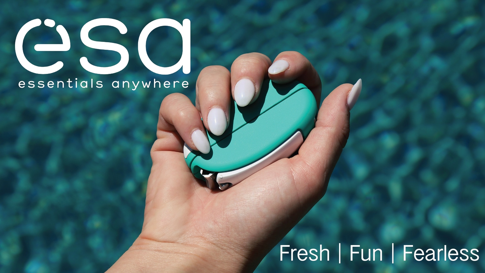 Meet esa Go, the world's most compact 7-in-1 cosmetic multi-tool. Great for on-the-go or at home. Complete premium nail kit & tweezers