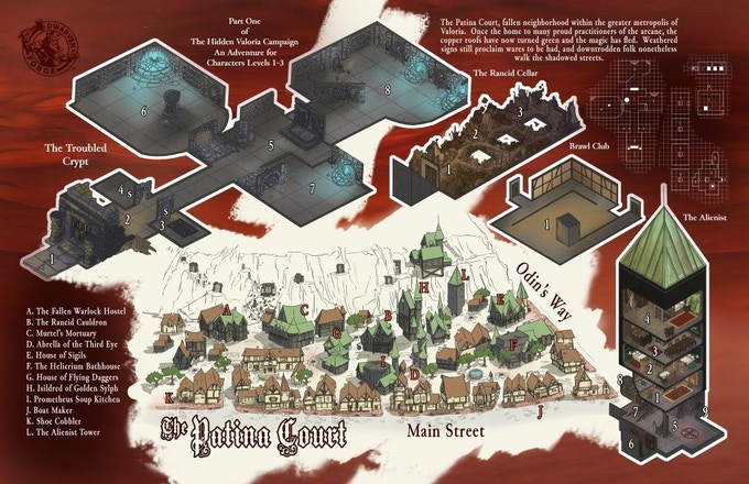 Inside Cover, Folio #8 sample mapping.