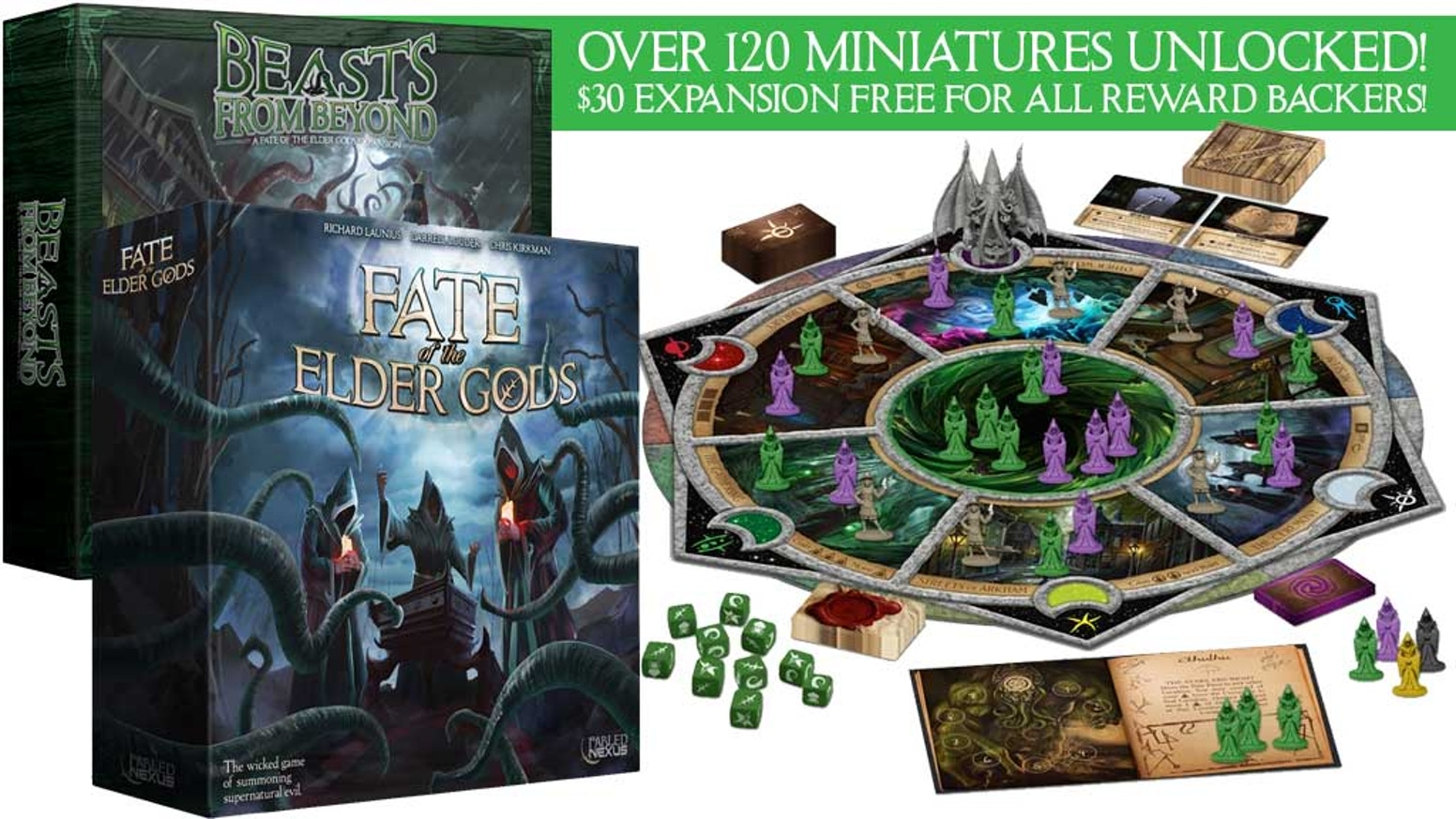 Fate of the elder gods the boardgame of lovecraftian cults by the wicked 1 4 player game of summoning supernatural evil in 60 90 minutes buycottarizona Choice Image