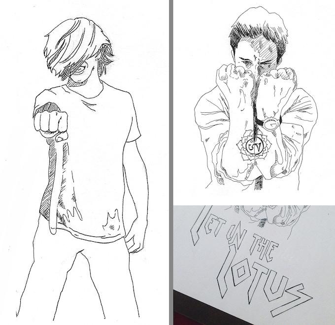Keanu meme prints by Mimi Thi Nguyen (drafts pictured)