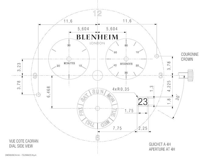 Blenheim london chronomaster pilot watch on backerclub finally finish the engineering blueprint malvernweather Image collections