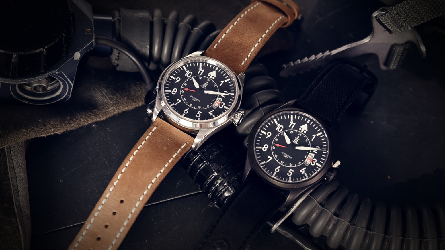 Modern Pilot watch with heritage from classic pilot watches