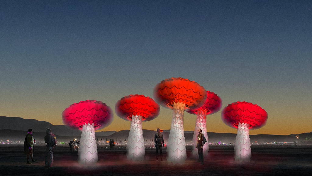 Shrumen Lumen Interactive Sculpture for Burning Man project video thumbnail