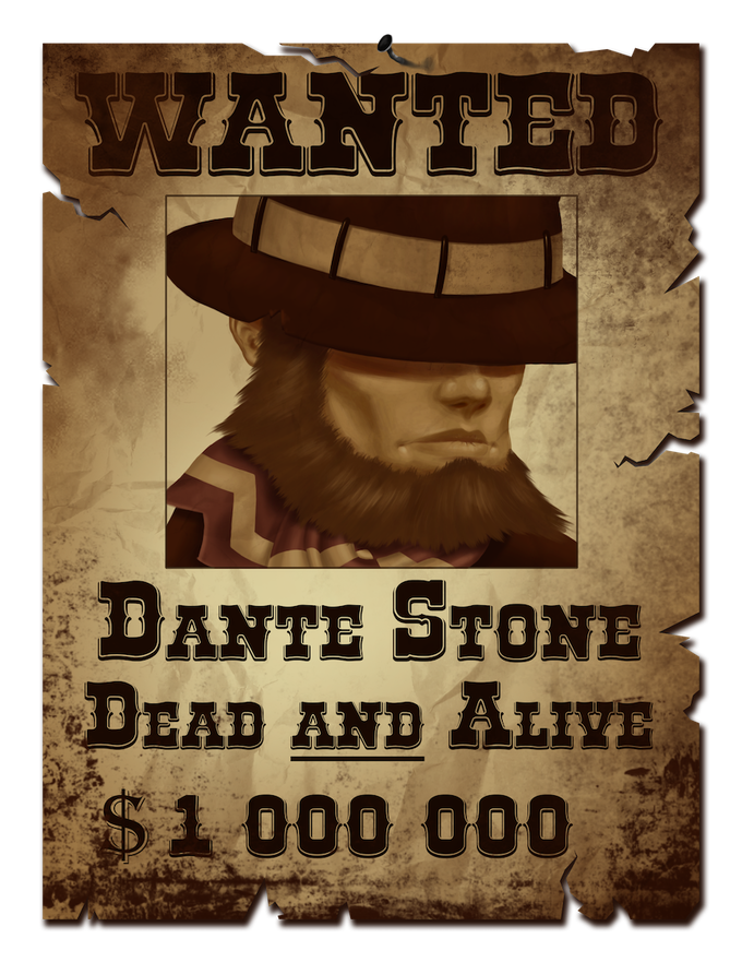 Dante's wanted poster