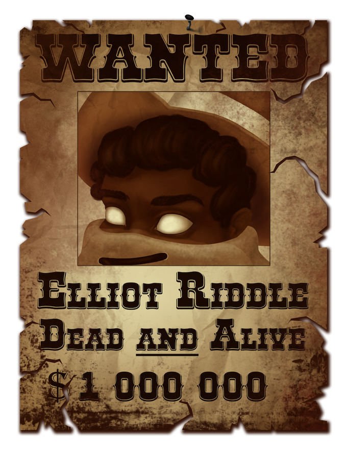 Elliot's wanted poster