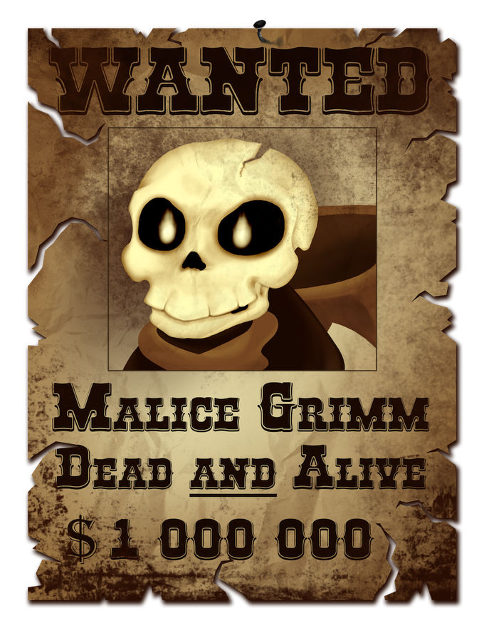 Malice's wanted poster