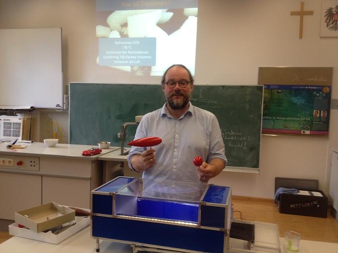 Gerhard in a classroom