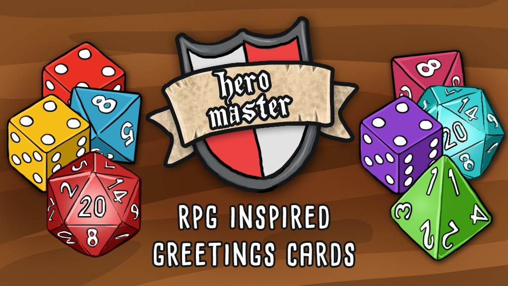 Hero Master - fantasy game and RPG humour greetings cards project video thumbnail